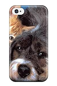 tiffany moreno's Shop New Style 9359964K97092929 Flexible Tpu Back Case Cover For Iphone 4/4s - Cat And Dog