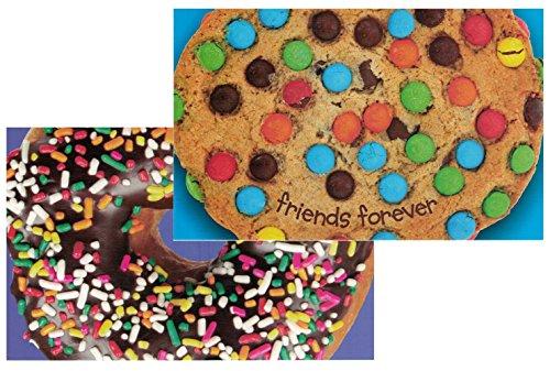 Cupcake Postcard - 6 Summer Camp Stationery Postcards for Kids Cupcake/Donut Postcard Set