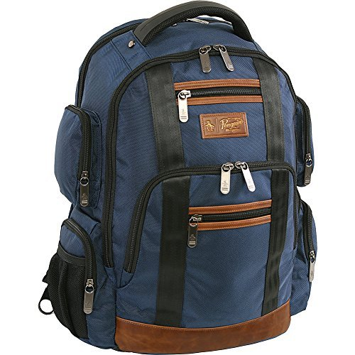 (ORIGINAL PENGUIN Peterson Backpack Fits Most 15-inch Laptop and Notebook, Navy, One Size)