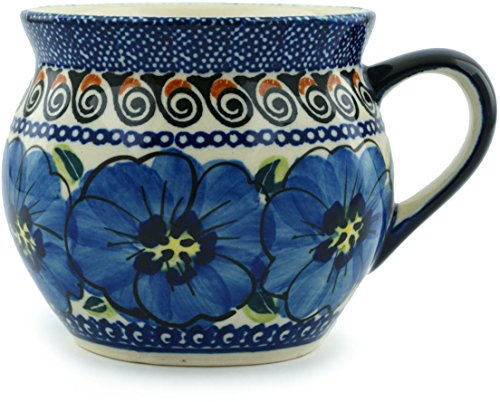 Polish Pottery Bubble Mug 12 oz Regal Bouquet UNIKAT ()
