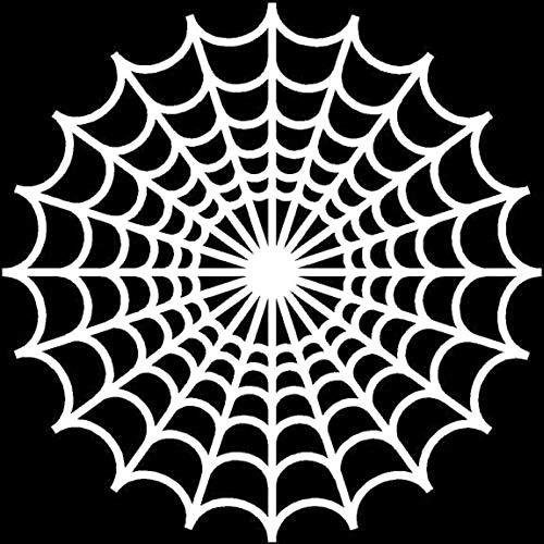 15.515.5CM Cartoon Spider Web Halloween Interesting Decal Car Window Sticker Black/Silver Vinyl S8-1305 Silver -