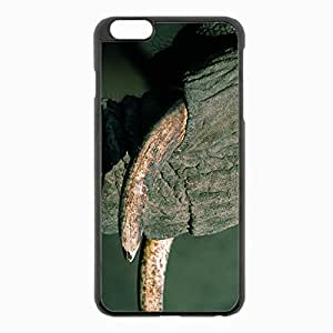 iPhone 6 Plus Black Hardshell Case 5.5inch - elephant trunk tusks Desin Images Protector Back Cover