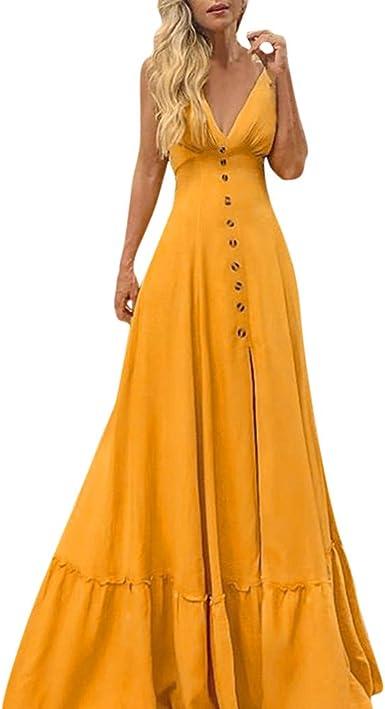Womens Dress Party Summer Sundress Fashion Holiday Dress V Neck Stylish Beach