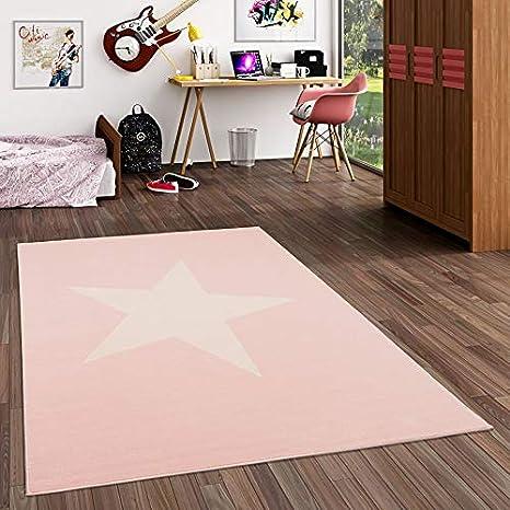 Tapis pour Enfant 5 Tailles Disponibles Motifs /étoile Rose Pastel Pergamon Trendline Kids