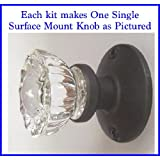 The Wonderful Crystal Antique Replica Surface Mount Single Dummy/French Door Knob. Shipped complete with all the hardware and ready to install on any French door or a solid surface