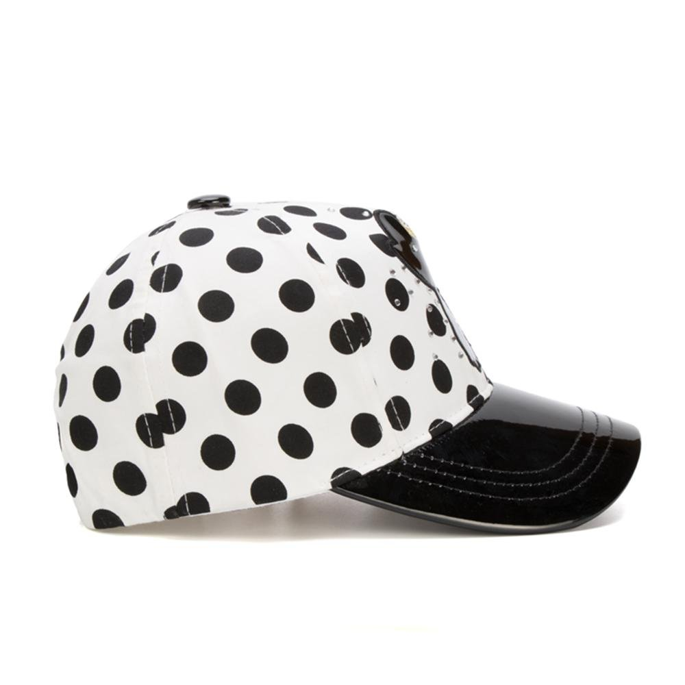 Summer Sunshade Girl hat Pussy cat Artificial Leather PU Beret.