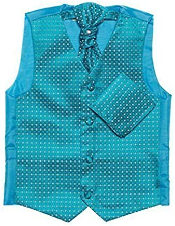 Paisley of London, Niño aguamarina chaleco, corbata & pañuelo set ...