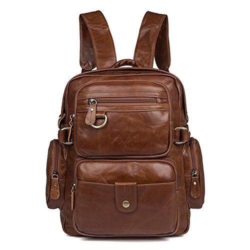 MuLier Sling Backpack Men Genuine Leather Bag Crossbody Shoulder Bag For Men by MuLier