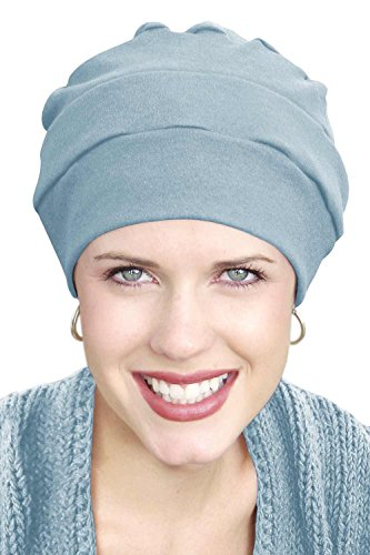 - Headcovers Unlimited 100% Cotton Three Seam Turban | Chemo Turbans for Cancer Patients Light Chambrey