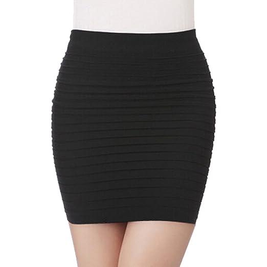 Ggtfa Pleated Stretch Tight Hip Mini Pencil Skirt Business Wear