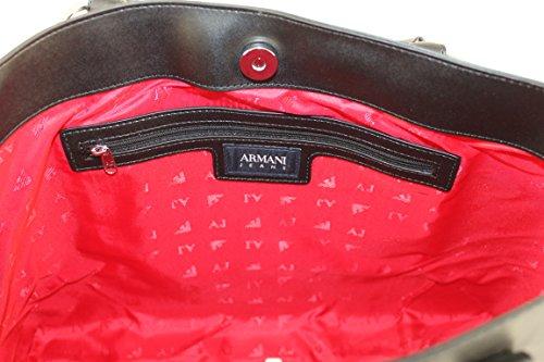 Armani Jeans 922567 - Bolso de tela para mujer negro negro B 43 x H 27 x T 11 negro