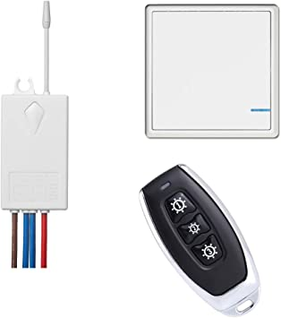 Wireless Light Switch And Receiver Kit 1 Remote 1 Button 1 Receiver Perfect Solution For Adding Or Relocating Ceiling Light Outdoor Wireless Lights Switch Amazon Com