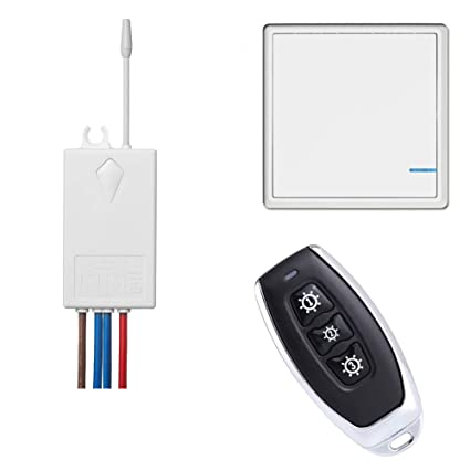 Remarkable Basic Wireless Light Switch Kit With 1 Remote 1 Push Button Panel Wiring Cloud Hisonuggs Outletorg