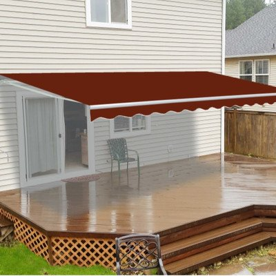 Gudcraft FAB13X8BURG37 Aleko Waterproof Burgundy Fabric For Retractable Patio Awning, 13' x 8'