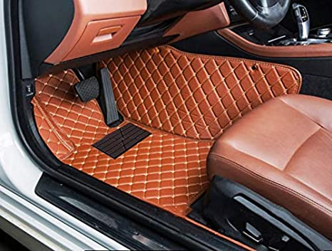 Car Floor Mats for Nissan Altima 2019-2020 Custom Leather mat Full Surrounded Cargo Liner All Weather Protection Waterpoof Non-Slip Set Left Drive Black and Red