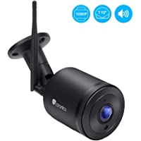 Ctronics Security Camera Outdoor,1080P Wireless IP Surveillance Camera,98ft Night Vision Bullet Camera,Two-Way Audio,Waterproof,Motion Detect,Support Max 128GB Micro SD Card(not Included)