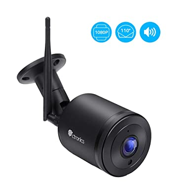 Ctronics Securtiy Outdoor Camera Wifi 1080P HD Home Surveillance IP Camera  with 110°Wide View Angle,Two-Way Audio,98ft IR Night Vision,IP65