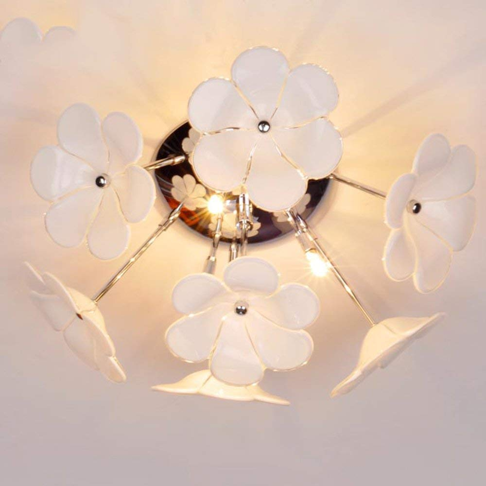 YANG Ceiling Light-Led Glass Flowers Simple Modern Living Room Bedroom Creative Entrance Aisle Energy Saving,26cm
