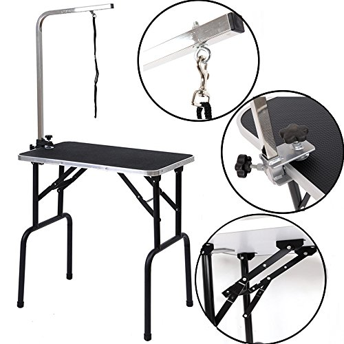 FCH-Grooming-Table-with-Adjustable-ArmNooseFoldable-Dog-Cat-Pet-Grooming-Table-with-Grooming-Loose-Max-Capacity-Up-to-265lbs