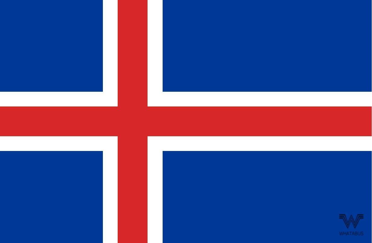 WHATABUS - Adhesivo Decorativo (8,5 x 5,5 cm), diseño de Bandera de Islandia