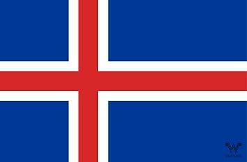 Whatabus Island Flagge Aufkleber Länderflagge Als Sticker 8 5 X 5 5 Cm Auto