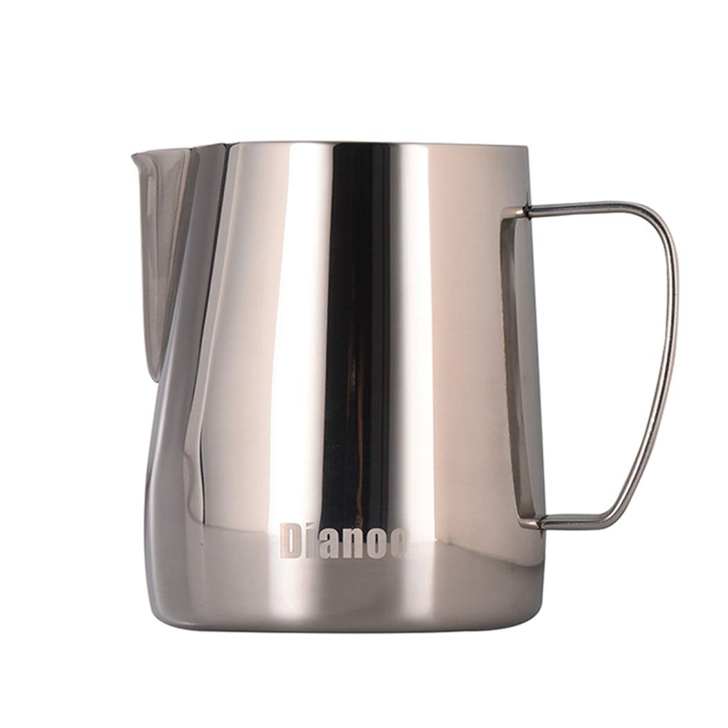 Dianoo Stainless Steel Milk Frothing Pitcher Creamer Frothing Pitcher Latte Art Cup for Espresso Cappuccino Coffee 350 ML worth2buy
