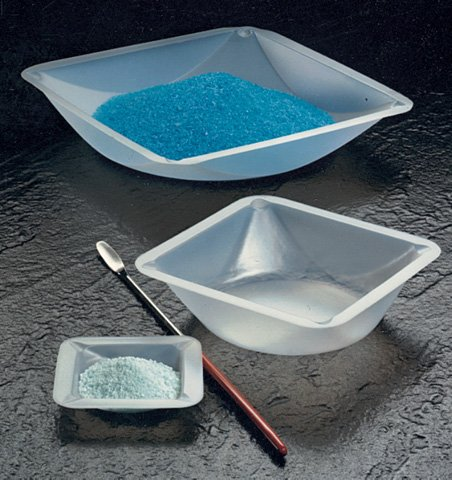 Plastic Square Weigh Boats Small Dish 100pk by Scientific Equipment of Houston