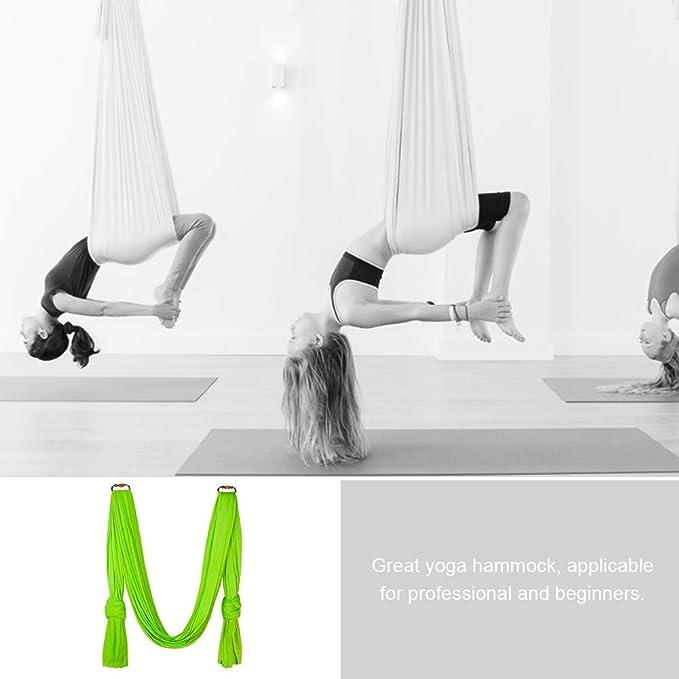 Columpios de Yoga para ni/ños Conjunto de Hamaca de Yoga el/ástica Multifuncional Accesorio de Entrenamiento f/ísico para Principiantes y Profesionales