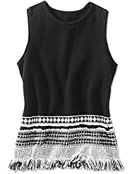 Orvis Womens Fringe Detail Sweater Tank