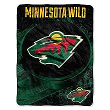 NHL Minnesota Wild Ice Dash Micro Raschel Throw Blanket, 46x60-Inch