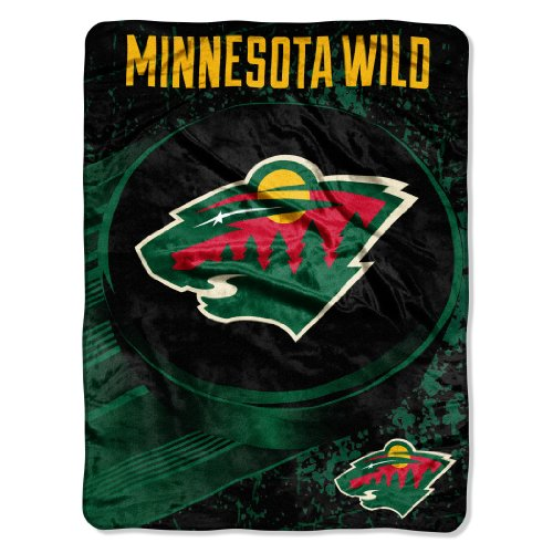 The Northwest Company 1Nhl 05900 0032 Amznhl Minnesota Wild Ice Dash Micro Raschel Throw  46  X 60