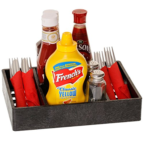 Multi Purpose Condiment Server Charcoal   Table Tidy, Condiment Holder, Condiment Caddy, Sauce Holder, Sauce Caddy, Table Organiser HS Inc.