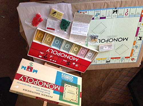 1961 MONOPOLY: PARKER BROS. REAL ESTATE TRADING GAME EQUIPMENT (Monopoly Property Trading Game From Parker Brothers)