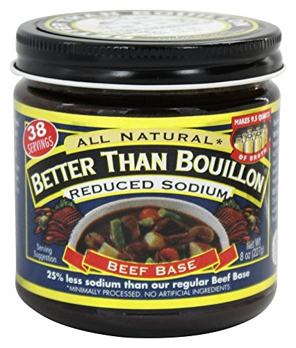 Better Than Bouillon - Beef Base Reduced Sodium - 8 oz (pack of 2) -