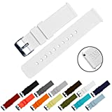 BARTON Quick Release - Choice of Colors & Widths (18mm, 20mm or 22mm) - White 22mm Watch Band Strap