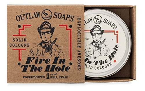 Fire in the Hole Campfire Solid Cologne - 1 oz - Smells like campfire, gunpowder, sagebrush, whiskey, and basically a great weekend camping - men's or women's (Cologne Soap)