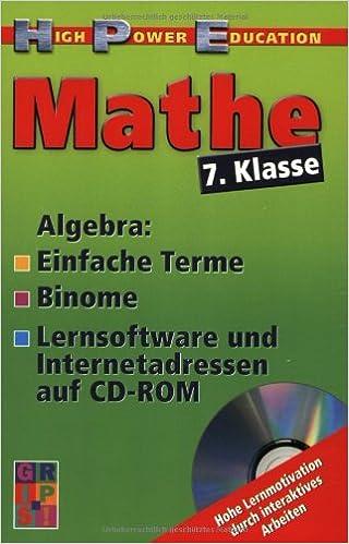 Mathe 7. Klasse, Algebra: Amazon.de: Werner Lorbeer: Bücher