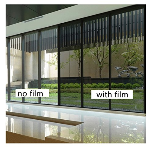Yzakka Light Filtering Window Film Anti UV No Glue Sun Control Heat Control Residential Window Films for Glass Self Adhesive for Home Bedroom Bathroom Kitchen Office Dark, 27.6-Inch by 16.4-Feet by Yzakka (Image #3)'
