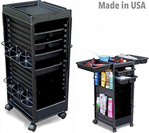 N20 HF Salon SPA Roll-About Cart Trolley Storage Utility Organizer Non Locking Made in USA by Dina Meri