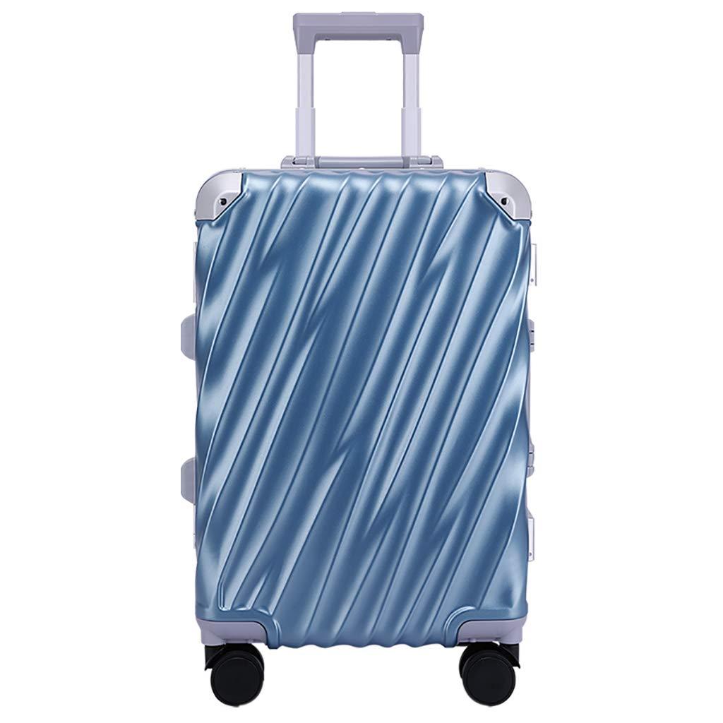 48 / 59cmキャビン軽量荷物| ABS +ポリカーボネートスーツケースを運ぶTSAロック付きハードシェル手荷物、4輪トラベルバッグ、3色 B07PKNDSBY Blue 34x24x48cm