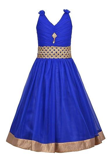 33b3229a8 Aarika Girl s Self Design Party Wear Net Gown  Amazon.in  Clothing ...
