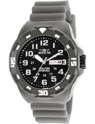Invicta Men's 'Coalition Forces' Quartz Stainless Steel and Silicone Casual Watch, Color:Grey (Model: 25325)