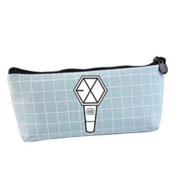 Amazon.com  Youyouchard Kpop BTS Bangtan Boys Canvas Pencil Case Stationery  Bag BLACKPINK EXO GOT7 TWICE WANNA ONE Pencil Box Coin Bag Cosmetic  Bag(exo)  ... 30d3703b947d