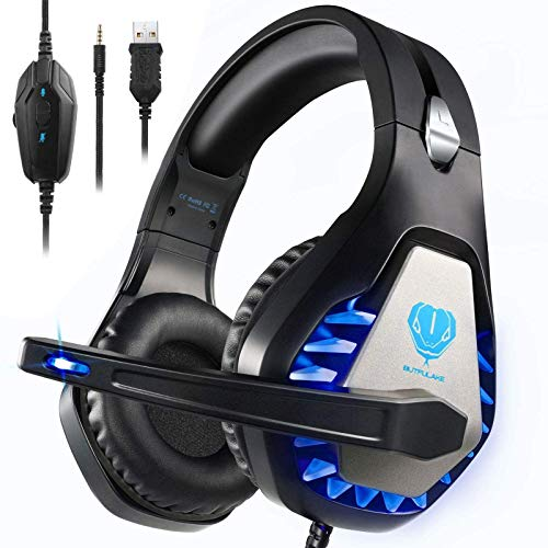 BUTFULAKE GH-1 Gaming Headset for PS4, Xbox One, Xbox One S, PC, Nintendo Switch, Mac, Laptop, Computer, 3.5mm Wired Pro…