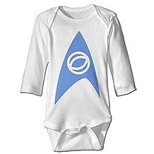 Boss-Seller Star Trek Long-Sleeve Romper Bodysuit For 6-24 Months Infant White