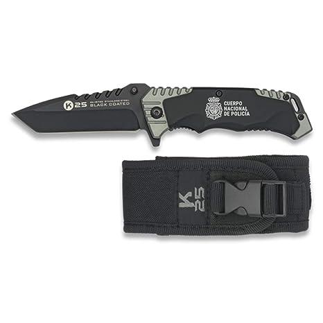 K25-RUI Navaja Negra Hoja de 8.5 cm. Cuerpo Nacional de Policia. Funda de Nylon