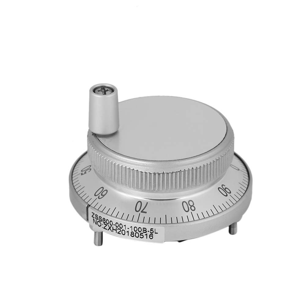 100PPR 6 Terminal Electronic Hand Wheel Manual Pulse Encoder for CNC System (White)