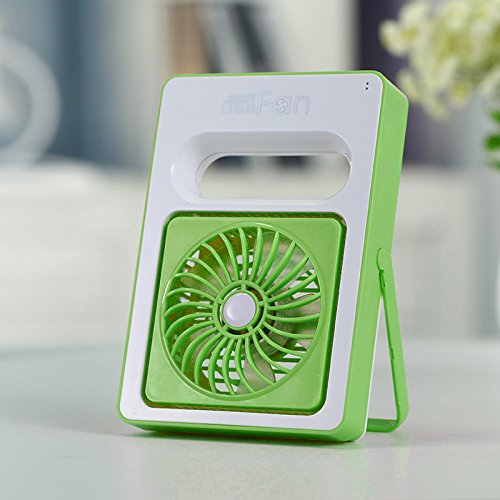 GaGa MILANO Mini USB Fan Handheld Desk adjustment angle Fan Rechargeable Portable Personal Cooler Fan Regulating Wind Speed for Office Home Outdoor (Green)