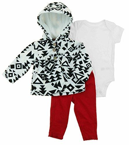 Carter's 3 Piece Fleece Jacket, Bodysuit, & Pant Set for Girls (12 Months, ()