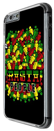 1095 - Cool fun rasta reggae music jamaican love weed high jamin Design For iphone 6 6S 4.7'' Fashion Trend CASE Back COVER Plastic&Thin Metal -Clear